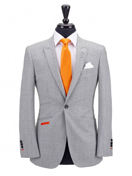 Light Grey Flannel 2pc Suit