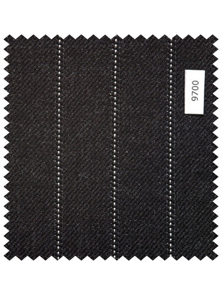 Charcoal Grey Single Pin Stripe